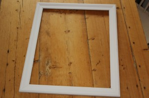 DIY memo board painting the frame