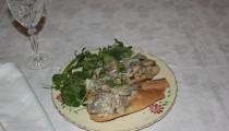 Steak with Mushrooms & Cornish Blue Sauce