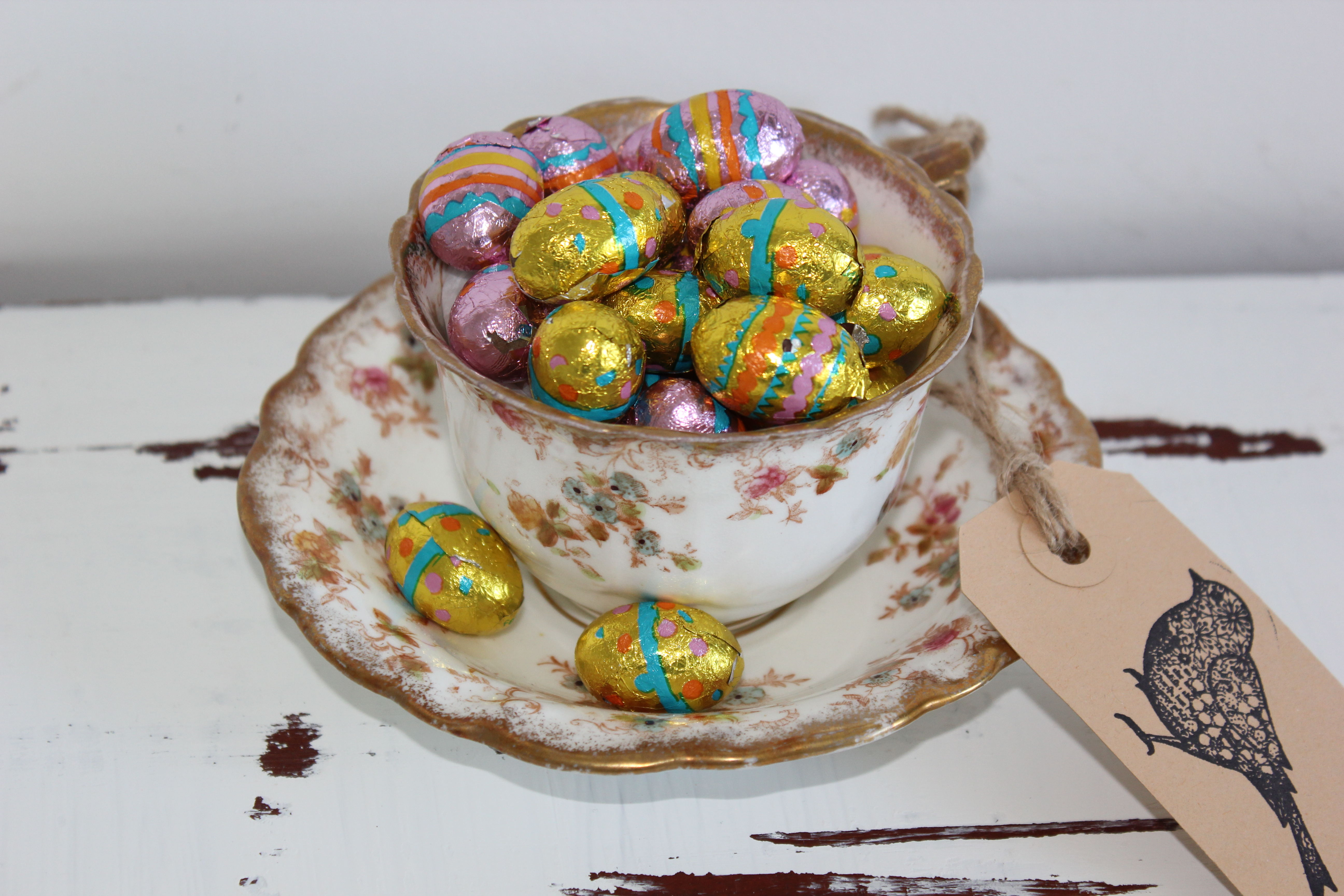 Easter cups shabby chic home made easter gifts athomeincornwall easter00004 negle Choice Image