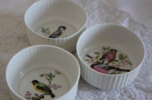 Shabby chic vintage kitchen birds 00504