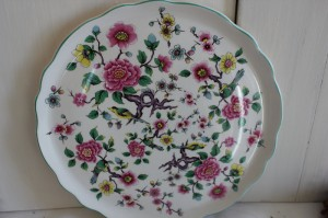 Shabby chic vintage bird plate 00518