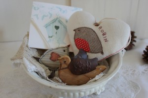 Shabby chic bird easter 00541