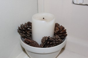 Shabby chic candle 00572