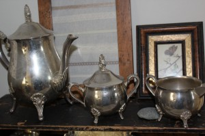 shabby chic silver coffee set 00577