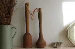 shabby chic kitchenalia wooden potato masher 00579