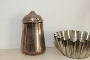 shabby chic silver salt shaker 00590