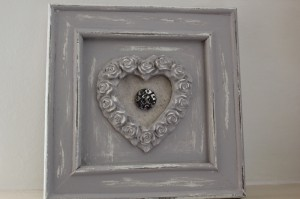 shabby chic painted picture frame 00604