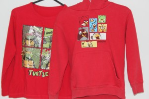 Upcycled child's hoodie - before